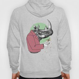 Cool Dude Rhino and Butterfly Hoody