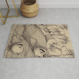 The Golden Fish (1) Rug