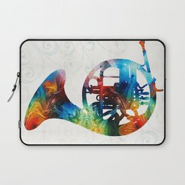 Colorful French Horn - Color Fusion By Sharon Cummings Laptop Sleeve