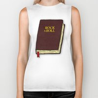 bible Biker Tanks featuring Rock & Roll Bible by Josh LaFayette