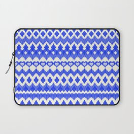 Ikat Pattern in Cobalt Blue & White Laptop Sleeve