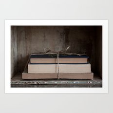 Bundle of Books Art Print