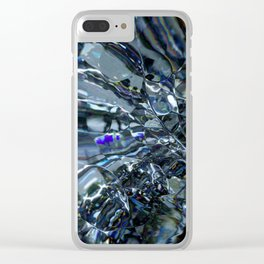 This glass is shattered Clear iPhone Case