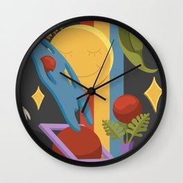 eunoia - look inside a well mind Wall Clock