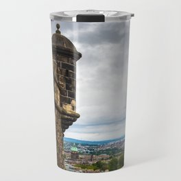 View of Edinburgh, Scotland from Edinburgh Castle Travel Mug