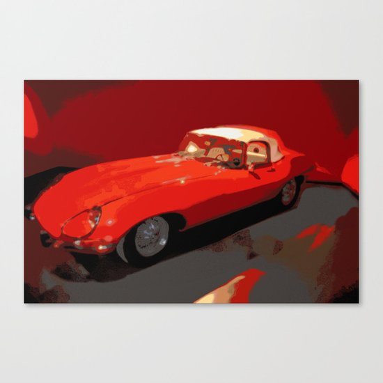 Car | Cars | Vintage 1969 Jaguar  | Nadia Bonello Canvas Print