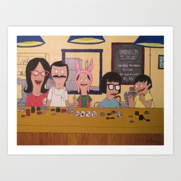Poker Night (Bobs Burgers) Art Print