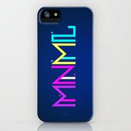 Minimal Type (Colorful Edm) Typography - Design iPhone Case