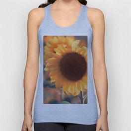 Soon she donates seeds for the birds the sunflower Unisex Tank Top