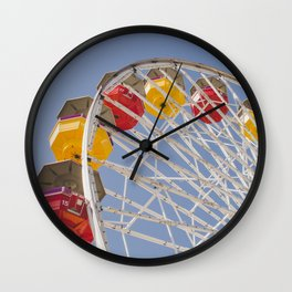 California Wheelin - Santa Monica Pier Wall Clock