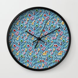 Music Stereogram Wall Clock