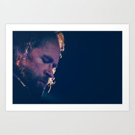 Duke Garwood - Portrait in blue Art Print