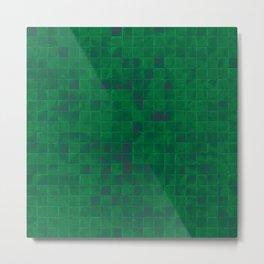 Green Tiles Metal Print