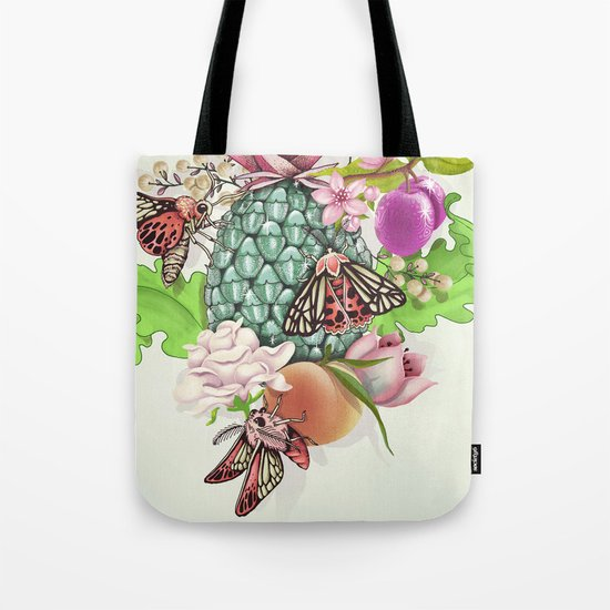 Glam Tropical - silver version Tote Bag
