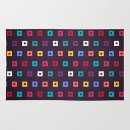 Colorful box seamless pattern design background Rug