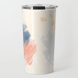 Peach and Blue Travel Mug