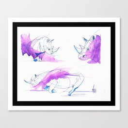 Brody's Rhino Canvas Print