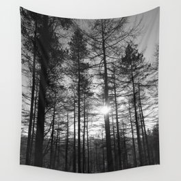 Winter Pine Forest 1 Wall Tapestry