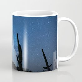 Cacti in the Desert before the Stars Coffee Mug