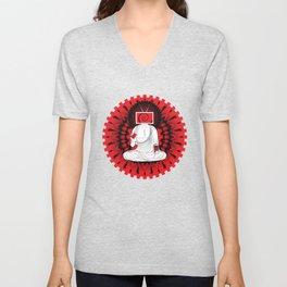 Manipulated Buddha Unisex V-Neck