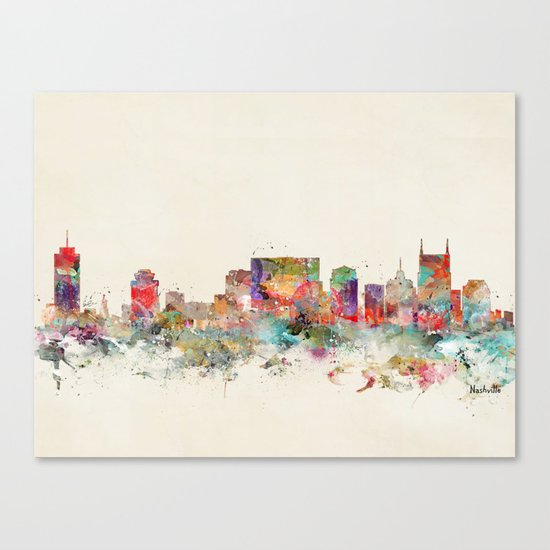 city nashville tennessee Canvas Print