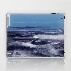 watercolor landscape - blue Laptop & iPad Skin