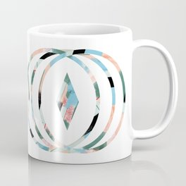 Abstract Brushstroke Circles Coffee Mug