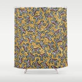 Spotty Dog by Nettwork2Design Nettie Heron-Middleton Shower Curtain