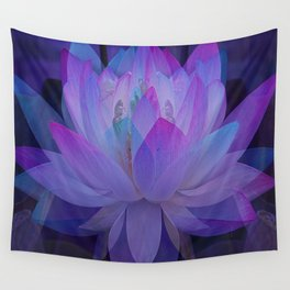 The Lotus in blue... Wall Tapestry
