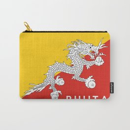 Bhutan country flag name text Carry-All Pouch