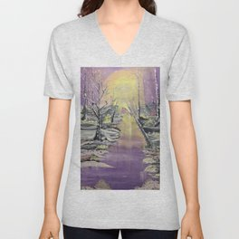 Warm winter beauty Unisex V-Neck