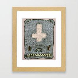 Evil Ted Framed Art Print