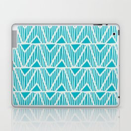 mala, african tribal pattern turquoise Laptop & iPad Skin
