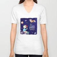 le petit prince V-neck T-shirts featuring Le petit prince by LadyAlouette