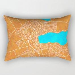 Barrie, ON, Canada, Gold, Blue, City, Map Rectangular Pillow
