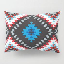 Colorful patchwork mosaic oriental kilim rug with traditional folk geometric ornament. Tribal style Pillow Sham