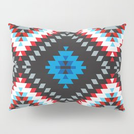 Colorful patchwork mosaic oriental kilim rug with traditional folk geometric ornament. Tribal style Pillow Sham