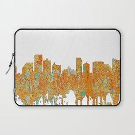 Atlantic City Skyline - Rust Laptop Sleeve