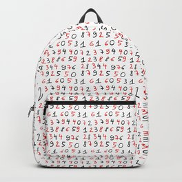 number 4- count,math,arithmetic,calculation,digit,numerical,child,school Backpack