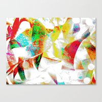 silver Canvas Prints featuring Silver by Yilan