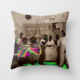 the Tempo of Bottoms up Throw Pillow