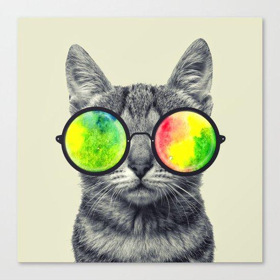 psychedelic feline Canvas Print