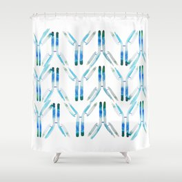 IgG Antibody, Science Art Shower Curtain