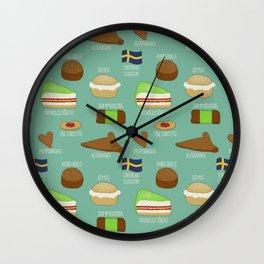 Swedish fika collection #2 Wall Clock