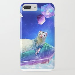 Ferret in the Sky with Crystals iPhone Case