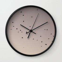 pastel birding Wall Clock