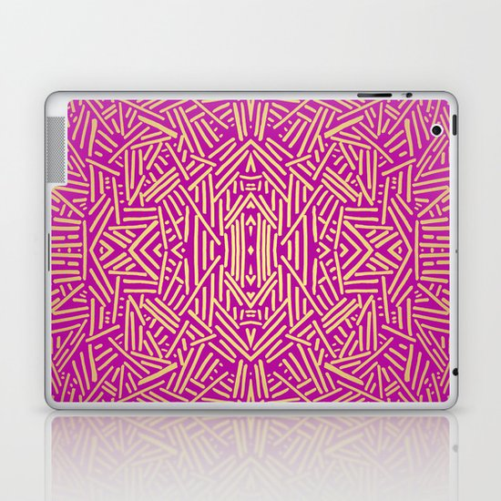 Radiate (Yellow/Ochre Raspberry) Laptop & iPad Skin