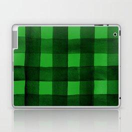 Buffalo Plaid Watercolor in Green Laptop & iPad Skin