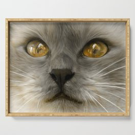 """""""Cute Kitty (Love cats)"""" Serving Tray"""