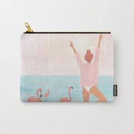 Big Flamingo Carry-All Pouch